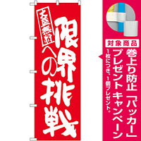 のぼり旗 限界への挑戦 赤地 (SNB-1275) [プレゼント付]