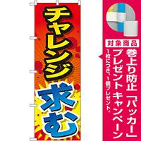 のぼり旗 チャレンジ求む (SNB-1289) [プレゼント付]