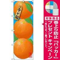 のぼり旗 オレンジ (イラスト) (SNB-1448) [プレゼント付]