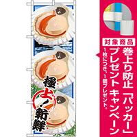 のぼり旗 ほたて (イラスト) (SNB-1569) [プレゼント付]