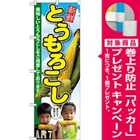 のぼり旗 とうもろこし 子供写真 2人 (SNB-2199) [プレゼント付]