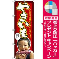 のぼり旗 やきいも 子供写真 (SNB-2204) [プレゼント付]