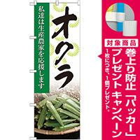 のぼり旗 オクラ 写真 (SNB-2270) [プレゼント付]