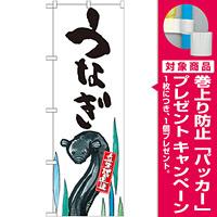 のぼり旗 うなぎ 産地直送 白 (SNB-2277) [プレゼント付]