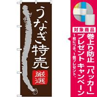 (新)のぼり旗 うなぎ特売 (SNB-4343) [プレゼント付]
