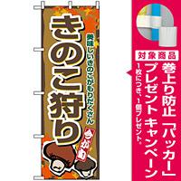 のぼり旗 (1393) きのこ狩り [プレゼント付]