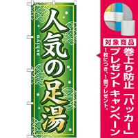 のぼり旗 (GNB-233) 人気の足湯 [プレゼント付]