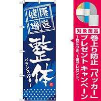 のぼり旗 (GNB-333) 健康増進 整体 [プレゼント付]