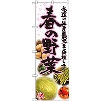 のぼり旗 春の野菜 写真 (21905)