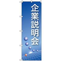 のぼり旗 企業説明会 ブルーバック (22320)