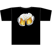 フルカラーTシャツ(フルカラー転写) ビール(イラスト) サイズ:S (22755)