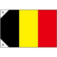 販促用国旗 ベルギー サイズ:ミニ (23661)