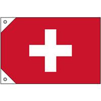販促用国旗 スイス サイズ:ミニ (23664)