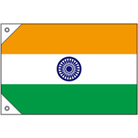 販促用国旗 インド サイズ:ミニ (23676)