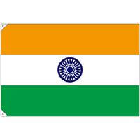 販促用国旗 インド サイズ:大 (23678)