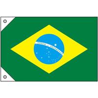 販促用国旗 ブラジル サイズ:ミニ (23736)