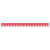 紅白幕 トロピカル 高さ450mm×4間(幅7200mm)(23935)