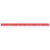 紅白幕 トロピカル 高さ450mm×5間(幅9000mm)(23936)