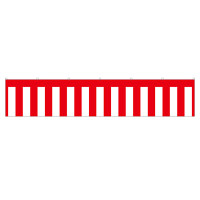 紅白幕 トロピカル 高さ700mm×2間(幅3600mm)(23937)