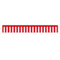紅白幕 トロピカル 高さ700mm×3間(幅5400mm)(23938)