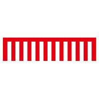 紅白幕 トロピカル 高さ1800mm×4間(幅7200mm)(23947)