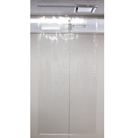 飛沫感染防止透明ビニールシート 幅91cm×高さ2m【5枚セット】 (29247)