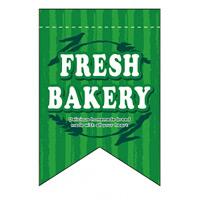 変形タペストリー FRESH BAKERY(リボンカット) カラー:緑 (5865)