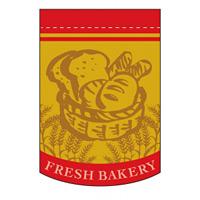 変形タペストリー フレッシュベーカリー カラー:赤 (5866)