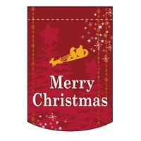 変形タペストリー メリークリスマス カラー:レッド (5873)