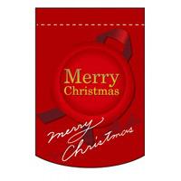 変形タペストリー Merry Christmas カラー:赤 (5876)