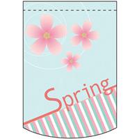 スプリング (水色・桜) アーチ型 ミニフラッグ(遮光・両面印刷) (61035)