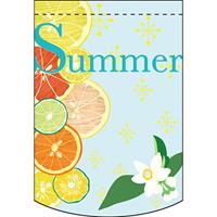 Summer フルーツ アーチ型 ミニフラッグ(遮光・両面印刷) (61056)