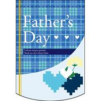 変形タペストリー Fathers Day チェック柄 (61072)