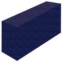 テーブルカバー 花柄ネイビー サイズ:W1800×H700×D450 (61489)