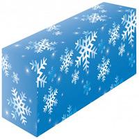 テーブルカバー 柄 雪 サイズ:W1800×H700×D450 (61535)