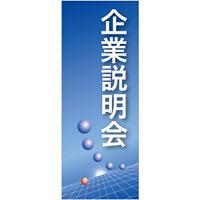 企業向けバナー 企業説明会 ブルー(青)背景 素材:トロマット(厚手生地) (61543)
