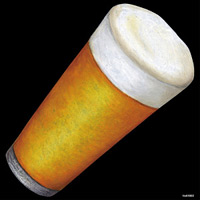 デコシール ビール サイズ:ビッグ W600×H600 (61862)