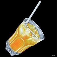 デコシール ジュース サイズ:ビッグ W600×H600 (61865)