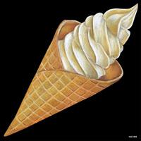 デコシール ソフトクリーム サイズ:ビッグ W600×H600 (61868)