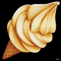 デコシール ソフトクリーム デフォルメデザイン サイズ:ビッグ W600×H600 (61900)