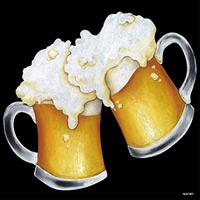 デコシール ビール (ジョッキ) サイズ:ビッグ W600×H600 (61901)