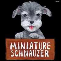 デコシール 犬 ミニチュアシュナウザー サイズ:ミニ W100×H100 (62069)