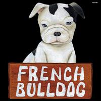 デコシール 犬 フレンチブルドッグ  サイズ:ビッグ W600×H600 (61921)