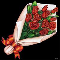 デコシール 花束 バラ サイズ:ビッグ W600×H600 (61925)