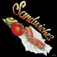 デコシール サンドイッチ サイズ:ビッグ W600×H600 (62084)