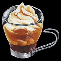 デコシール アイスコーヒー サイズ:ビッグ W600×H600 (62086)