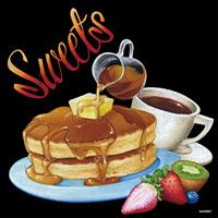 デコシール ホットケーキ サイズ:ビッグ W600×H600 (62087)