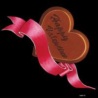 デコシール バレンタイン ハート  サイズ:ビッグ W600×H600 (62113)