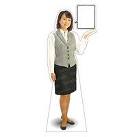 等身大パネル 女性制服(ベスト着用)-A モデル野原奈々 ポーズ:右向き (62352)