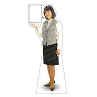 等身大パネル 女性制服(ベスト着用)-A モデル野原奈々 ポーズ:左向き (62353)